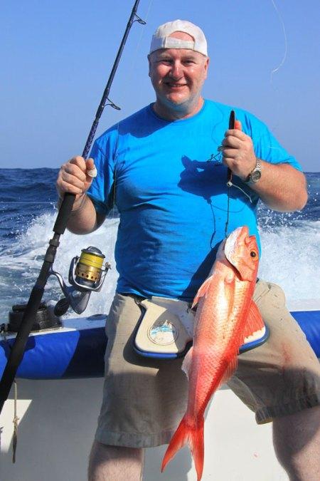 a fish on the Fox Jig Trek and XT rods