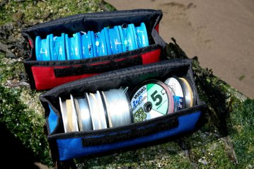 Ian Golds Rig & Spool Case with spools and rigs