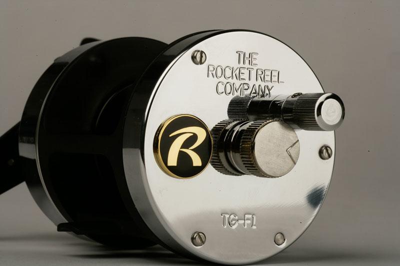 Rocket Reel Co TG-F1 reel side view