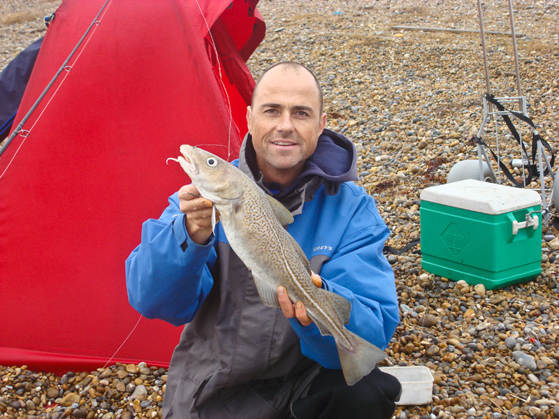 Paul Stevens with an Orford Island cod