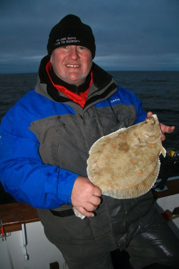 Les McBride with a plaice from Norway