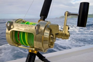 a large Alutecnos reel on the boat