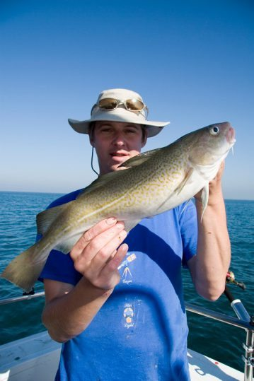 angler with a codling