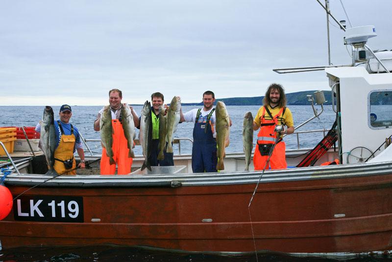shetland boat fishing mixed catch