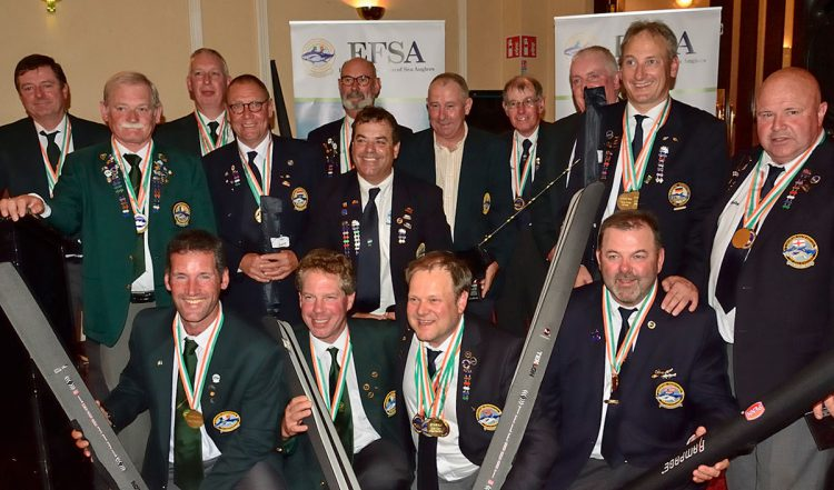 Happy group of prize winners at the EFSA Boat Championships