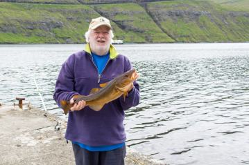 David with a red Faroese codling