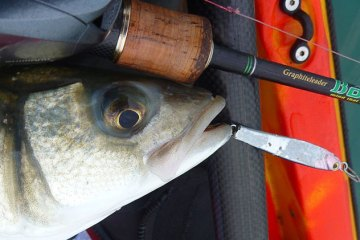 LRF HRF kayak fishing in Jersey bass