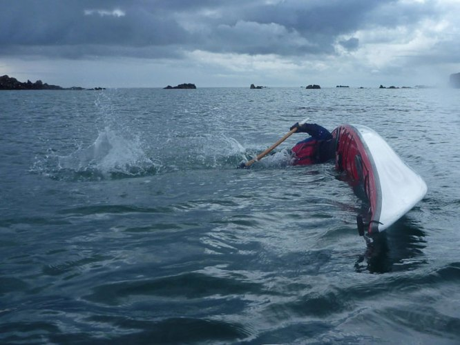 LRF HRF kayak fishing in Jersey capsize