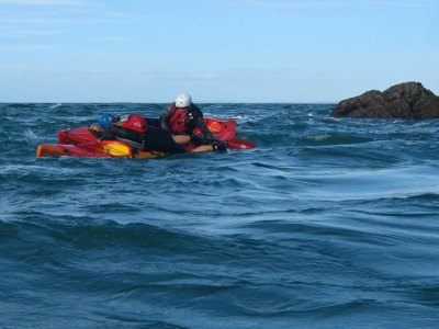 LRF HRF kayak fishing in Jersey capsize rescue