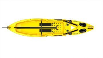 Freedom Hawk Kayaks yellow closed