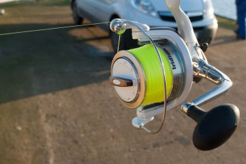 Iridium Stingray Fixed Spool Reel front left