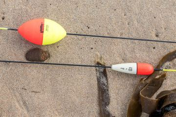 Two Alderney Style Long Stem Floats