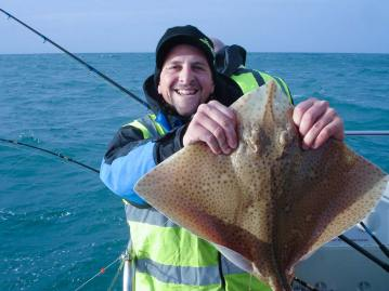 wibac boat fishing weymouth David with blonde ray