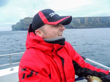 Scott in action off Dunnet Head