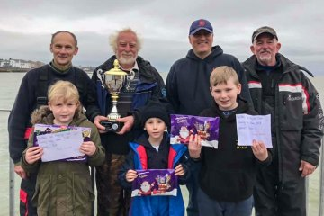 Winners of the Walton Pier Boxing Day and a great time was had by all