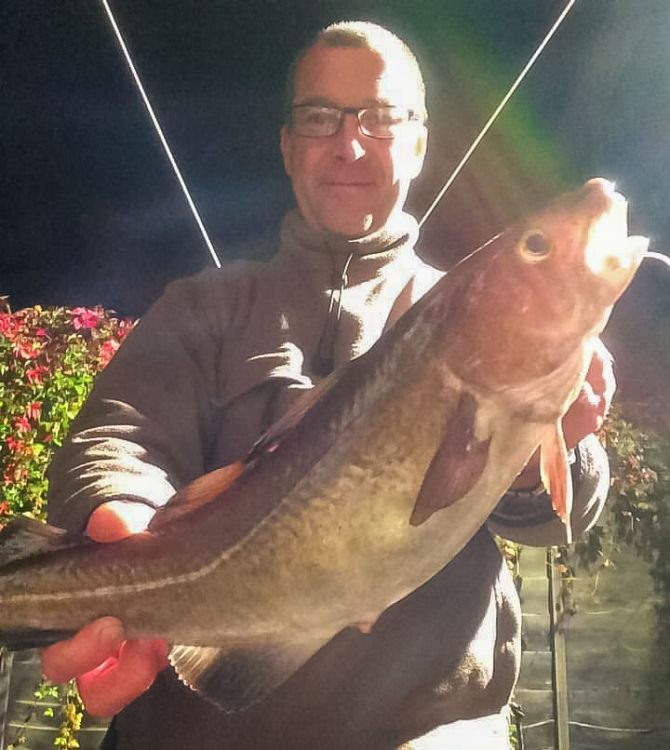 Dave Brown with a codling