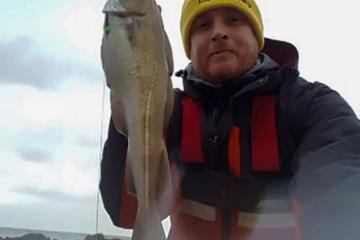 Local angler Matt Clark with a codling