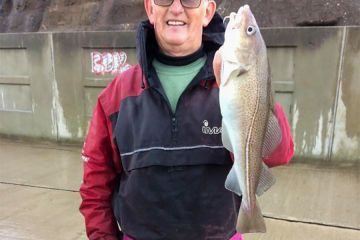 Ray Rodger with a cod
