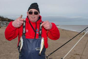 Gordon Long Cup winner Dave Burr with a double shot of small whiting