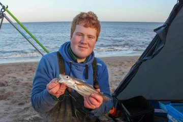 Match winner Dylan with one of his better sized whiting