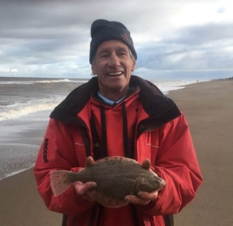 Angler not a dangler Bob Foster with his flounder