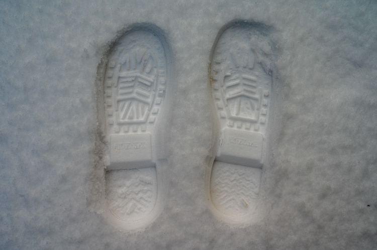 Xtratuf Boots Tread Pattern in Snow