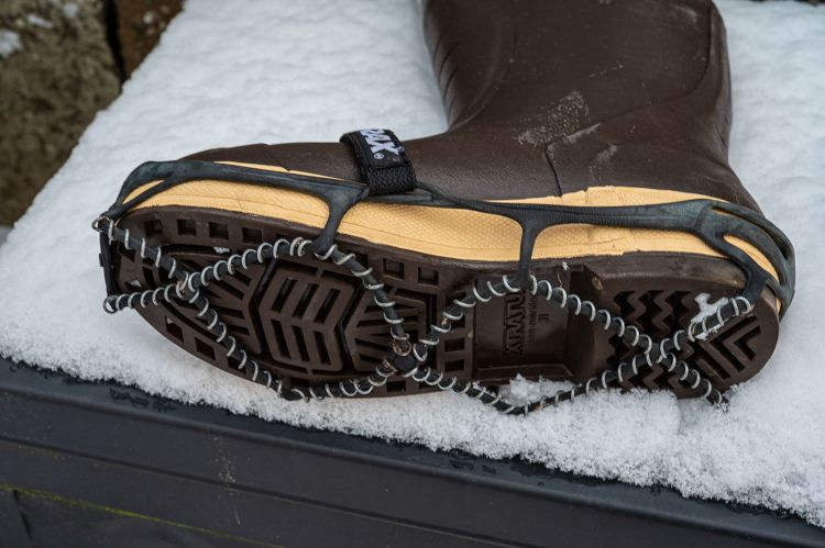 Xtratuf Boots Fitted With Yaktrax