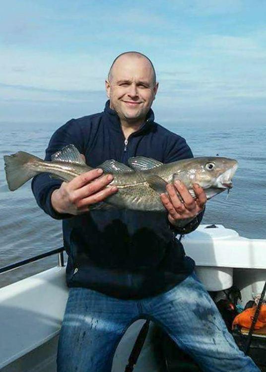 Howard Benson with a cod