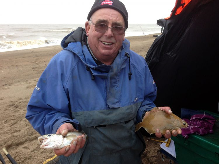 Dave Burr with a whiting & dab double shot in Match 22