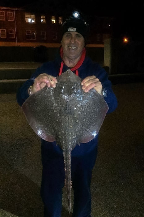 Steven Prior with his thornback ray