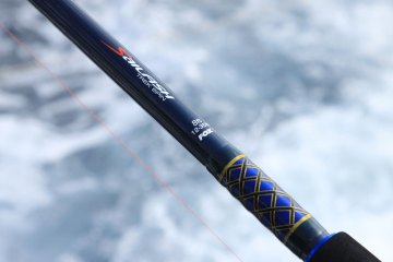 FOX Sailfish Trek Spin rod whipping and decal