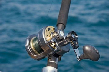 Shimano Tyrnos 12 2-speed reel on rod