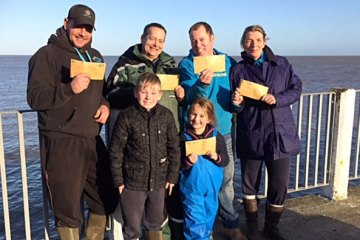 Walton Sea Angling Club, Boxing Day Match winners.