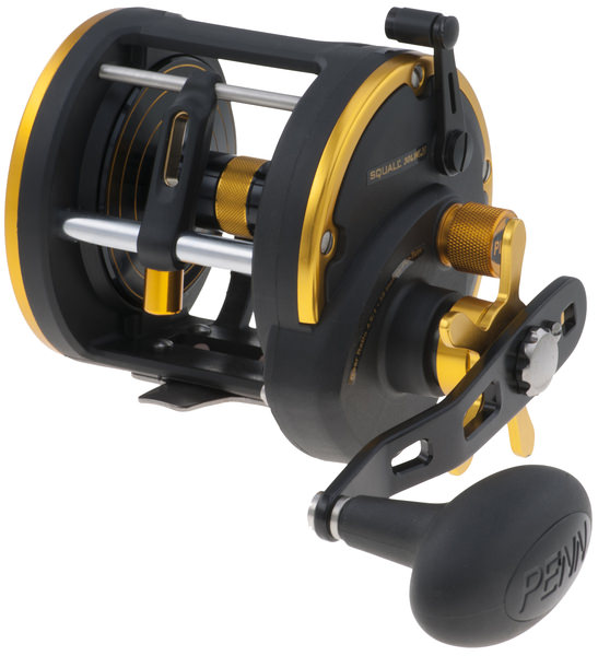 Penn Squall reel with level wind