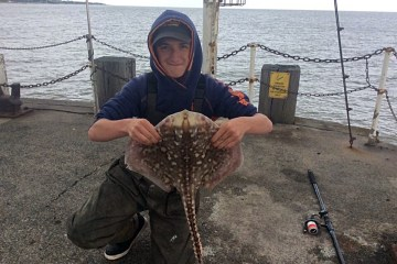 Nat Mills with his thornback ray