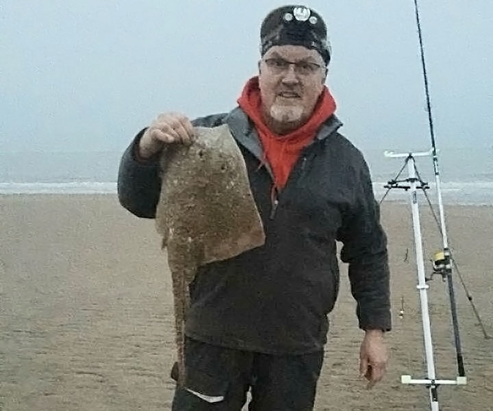 Match winner Dave Clark with his 6lb 4oz thornback ray