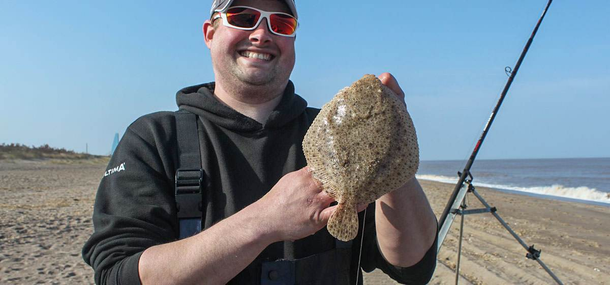 Match winner Dan Jackson with his turbot