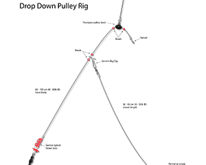 the drop down pulley rig
