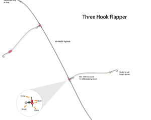 the three hook flapper