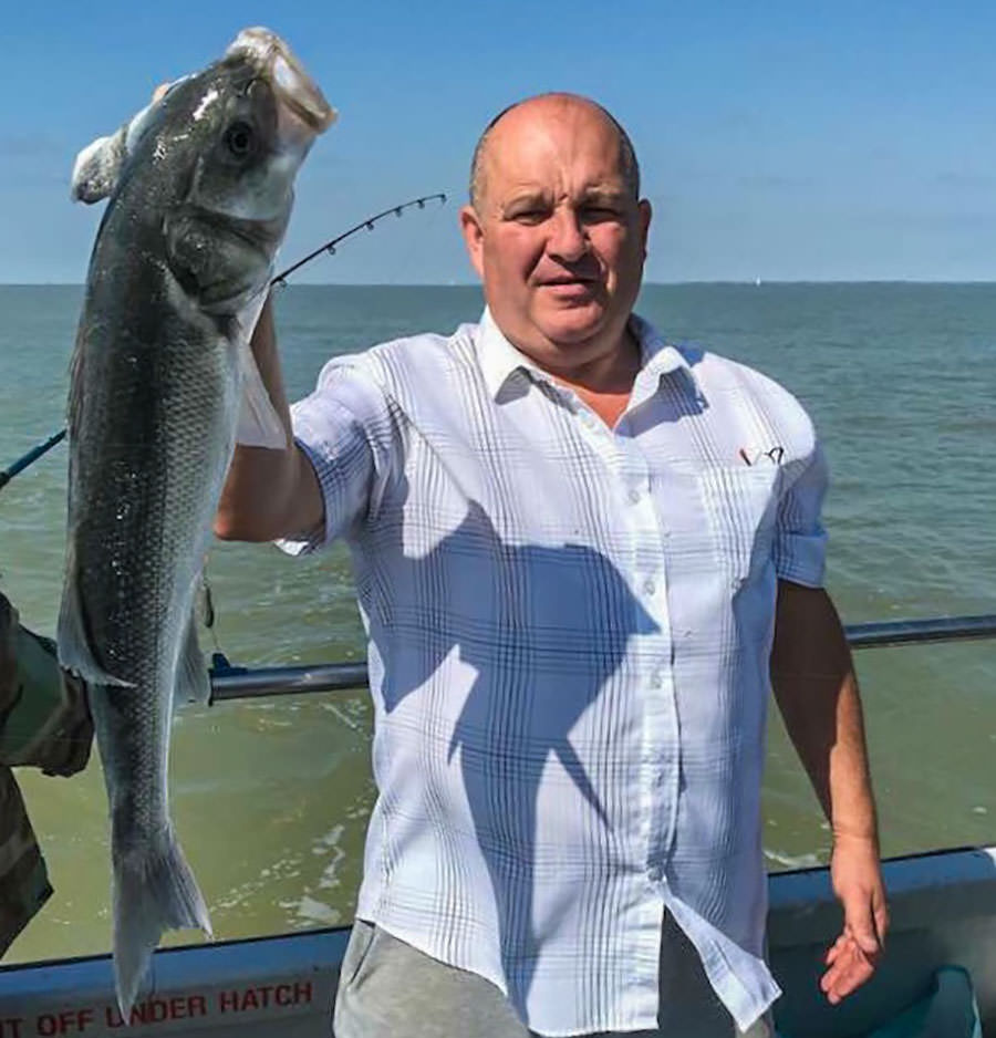 Gary Weare with his 11lb bass