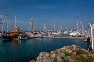 The marina before storm Emma hit