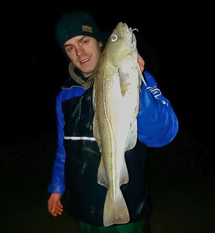 Ben Callighan with a cracking cod