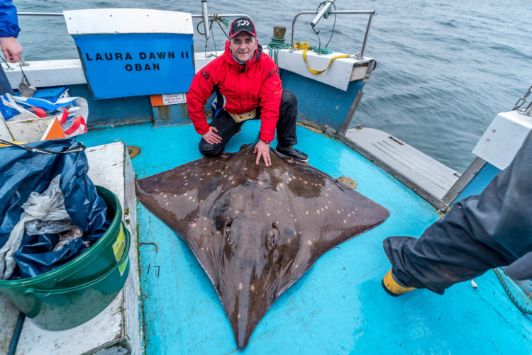 Scott Gibson with his 200lb common skate