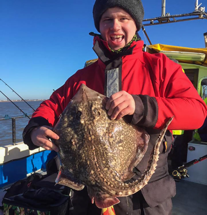 Colchester angler Lee Grego with a cracking thornback ray