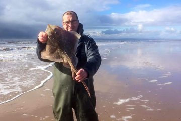 Dave Brown with a thornback ray