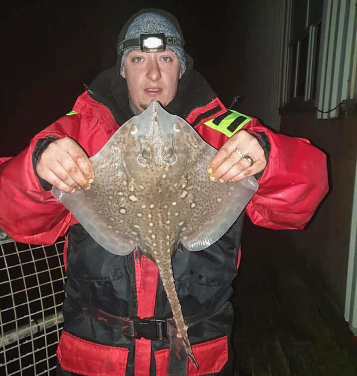 Scott Morris with his first ever ray