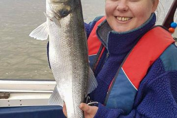Louise Croucher was rewarded with this fine looking bass