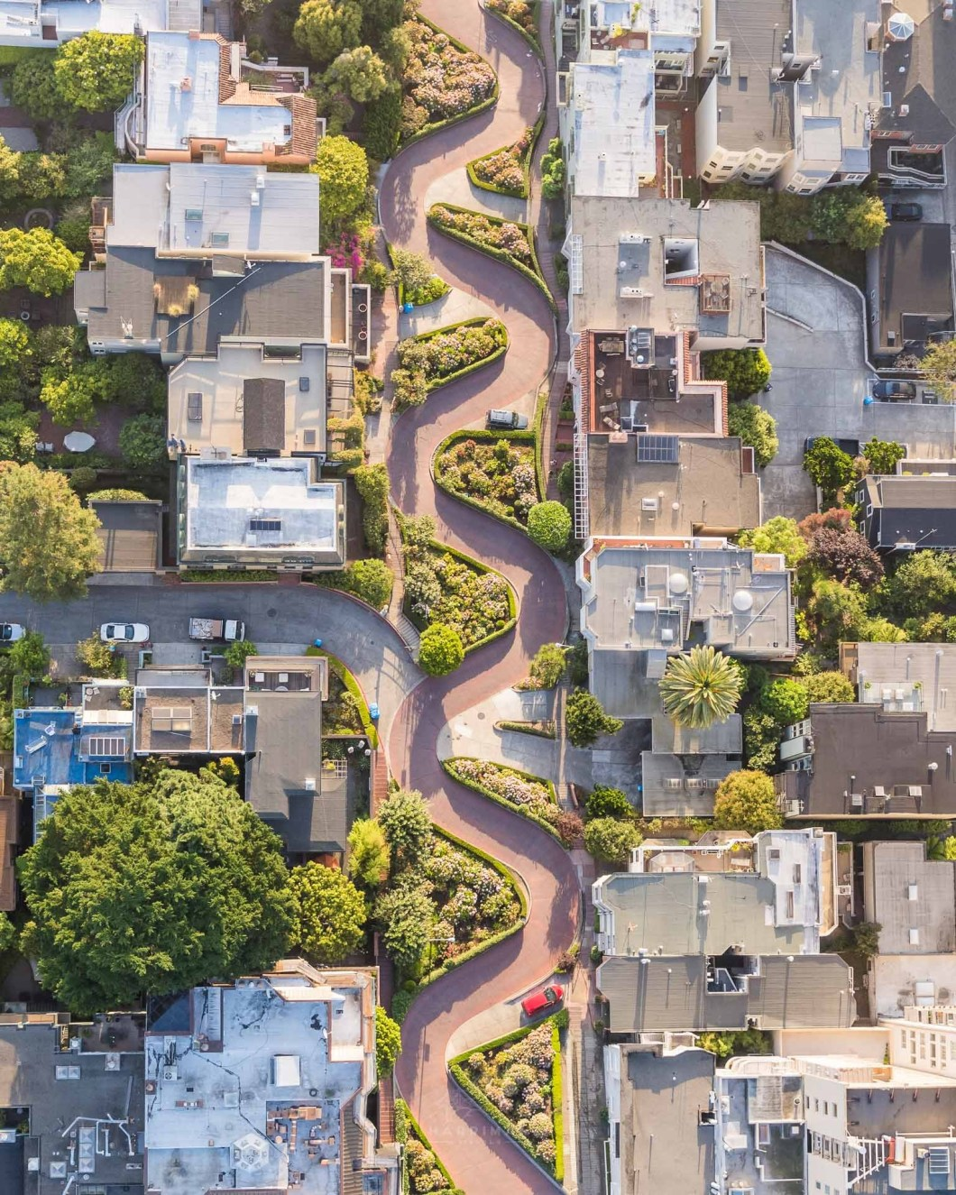 Lombard Street Aerial