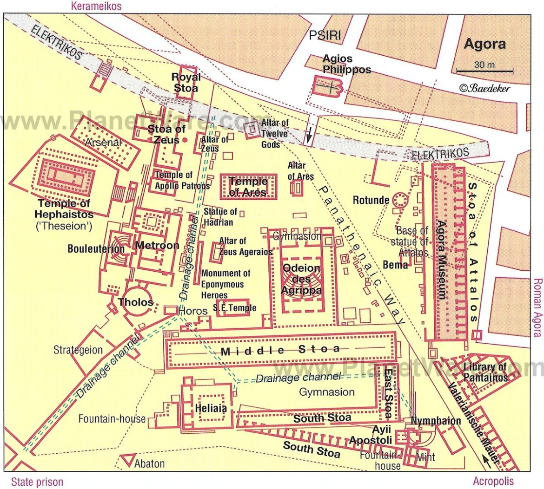 Agorá - Site map
