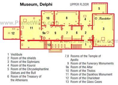 Delphi - Museum - Floor plan map